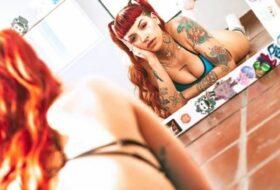 Cazzu pelirroja tatuada fotos OnlyFans